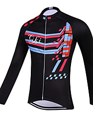 Sports QKI Rhythm Cycling Jersey Unisex Long Sleeve Bike Breathable / Quick Dry / Anatomic Design / Front Zipper / Sweat-wicking Jersey Polyester