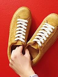 Femme-Décontracté-Noir / Gris / KakiConfort-Sneakers-Cuir
