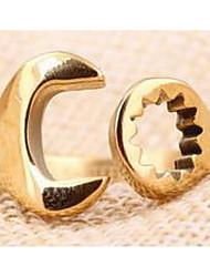 Ringe Alltag Schmuck Titanstahl Herren Ring 1 Stück,Eine Größe Goldfarben / Schwarz / Silber