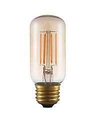 3.5 E26 Ampoules à Filament LED T 4 COB 300 lm Ambre Gradable / Décorative AC 110-130 V 1 pièce