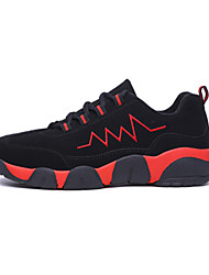 Men's Athletic Shoes Fall / Winter Comfort PU Athletic / Casual Flat Heel Lace-up Pink / Red / White Basketball