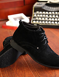 Men's Oxfords Others Suede Casual Black Brown