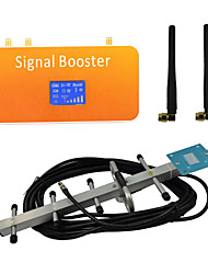 New LCD Display GSM 900MHz Mobile Phone Signal Booster Amplifier with Whip and Yagi Antennas Coverage 500m²