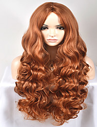 Europe and the United States Ms. Long New Year fashion long brown hair high-temperature wire wig
