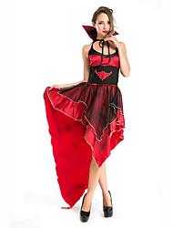 Vampiros Festival/Celebración Traje de Halloween Rojo / Negro Un Color Vestido / Cinturón / Para la CabezaHalloween / Navidad / Carnaval