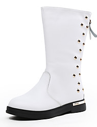 Girl's Boots Spring / Fall / Winter Others Leather Outdoor / Dress / Casual Rivet Black / Red / White
