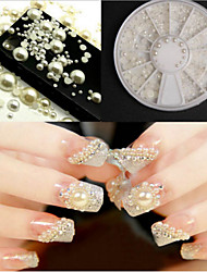 6 Cm Drill Box Half White Pearl Beads 12 Nail Art Act The Role Ofing Is Tasted Turntable 2/3/4/5 Conventional Mm Four Specifications