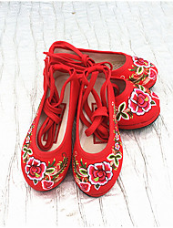 Girl's Flats Comfort Canvas Casual Red