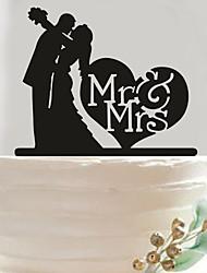 Acrylic lovers wedding cake inserted fine decoration birthday cake inserted card
