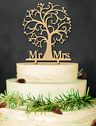 Mr & Mrs Wooden cake inserted exquisite decoration Birthday party cake inserted