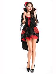 Sorcier/Sorcière Fête / Célébration Déguisement Halloween Noir Couleur Pleine Robe / CoiffureHalloween / Noël / Carnaval / Le Jour des