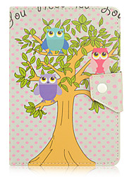 For Shockproof / with Stand / Auto Sleep/Wake / Magnetic / Pattern Case Full Body Case Cute Owl PU Leather iPad 2/3/4