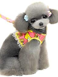 Gatos / Cães Arreios / Trelas Segurança / Macio / Corrida / Colete / Casual Desenho Animado Azul / Laranja Tecido