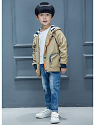 Boy Casual/Daily Solid Pants-Denim All Seasons