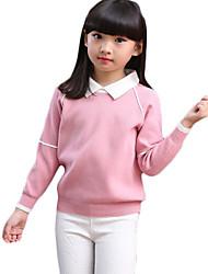 Pull à capuche & Sweatshirt Fille Décontracté / Quotidien Couleur Pleine Coton Printemps / Automne Manches longues Court