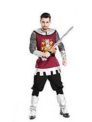 Festival/Holiday Halloween Costumes Red/Black Solid Top / Pants / Belt / More Accessories Halloween / Christmas / Carnival Male