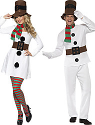Cosplay Costumes Santa Suits Movie Cosplay White Solid Top / Dress / Pants / Hats Christmas Female / Male Polyester