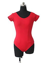 Ballet Leotards Women's / Children's Training Cotton / Lycra Pleated 1 Piece Short Sleeve Leotard