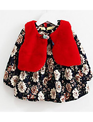 Girl's Casual/Daily Floral Dress,Cotton Winter / Fall Long Sleeve