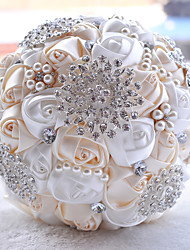 """Wedding Flowers Round Roses Bouquets Party/ Evening Taffeta 19.7""""(Approx.50cm)"""