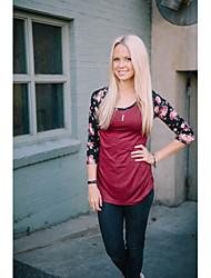амазонки модели Aliexpress торговый взрыв 2016 года новых женщин&# 39, S вокруг шеи короткий рукав футболки цвет сшивание