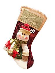 Праздничная бижутерия красный / белый / зеленый Фланель Косплэй аксессуары Рождество