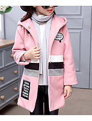 Girl Casual/Daily Solid Suit & Blazer,Nylon Winter ¾ Sleeve