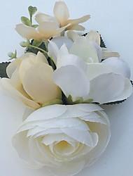 Свадебные цветы Лилии Пионы Бутоньерки Свадьба Партия / Вечерняя Атлас Стразы