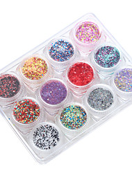 12 Nail Art Décoration strass Perles Maquillage cosmétique Nail Art Design