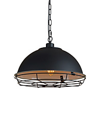 Max 60W Retro Simple Loft Pendant Lights Metal Dining Room Kitchen Bar Cafe Hallway Balcony Light Fixture