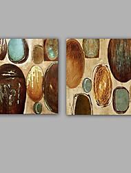 Peint à la main Abstrait Peintures à l'huile,Modern / Classique Deux Panneaux Toile Peinture à l'huile Hang-peint For Décoration