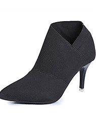 Women's Boots Spring Fall Other Fabric Office & Career Dress Party & Evening Stiletto Heel Others Black Gray