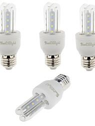 3W E26/E27 Lâmpadas Espiga T 16 SMD 2835 210 lm Branco Quente / Branco Frio Decorativa V 4 pçs