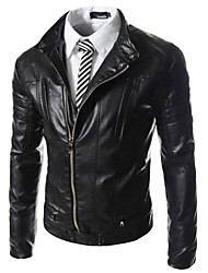 2015 Men Leather Coat Of Cultivate One's Morality