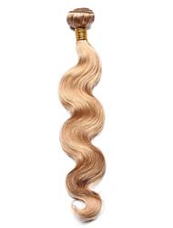 100g / pc corps vague cheveux humains 10-18inch fraise couleur blonde cheveux humains tisse