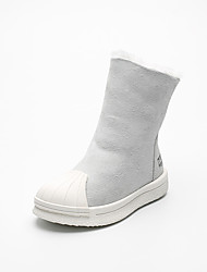 Girl's Boots Comfort Suede Casual Black / Brown / Gray