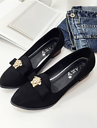 Women's Flats Fall Winter Others Pigskin Office & Career Casual Low Heel Beading Black Green Gray Others