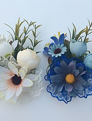 Fleurs de mariage Roses Boutonnières Mariage La Fête / soirée Satin