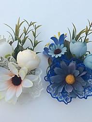Bouquets de Noiva Rosas Alfinetes de Lapela Casamento Festa / noite Cetim