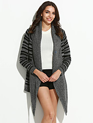 Women's Color Block Warm Loose All Match Cardigan,Street chic Long Sleeve