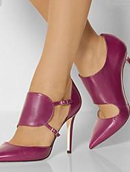 Damen-High Heels-Lässig / Party & Festivität-Kunstleder-Stöckelabsatz-Passende Schuhe & Taschen-Schwarz / Lila / Rot / Burgund