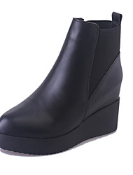 Women's Boots Winter Increased Within All Match Platform / Comfort Leatherette Dress / Casual Platform Gore Black