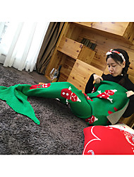 Yarn Knitted Mermaid Tail Blanket Christmas Handmade Crochet Mermaid Blanket Super Soft Sleeping Bag 140*70