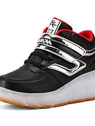 Para Meninos-Tênis-Conforto-Rasteiro-Azul Verde Vermelho Preto e Vermelho Preto e Branco-Couro Ecológico-Casual