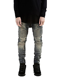 Famous Brand Mens Ripped Rider Biker Jeans Motorcycle Slim Fit Washed  Blue Moto Denim Pants Joggers For Skinny Men Hole