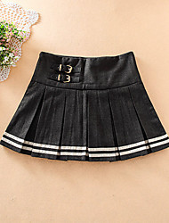 Women's Mid Rise Mini Skirts,Active A Line Pleated Solid
