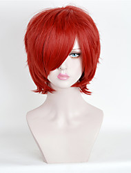 Hot Selling Women Red Color Synthetic Wigs Short Curly Wigs