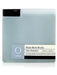 bois de mousse blanche cheveux shampooing