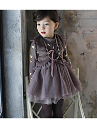 Girl Casual/Daily Solid Vest,Cotton Winter Sleeveless