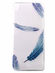 Étui pour xperia xa e5 couverture arrière plume ultra-mince motif soft tpu
